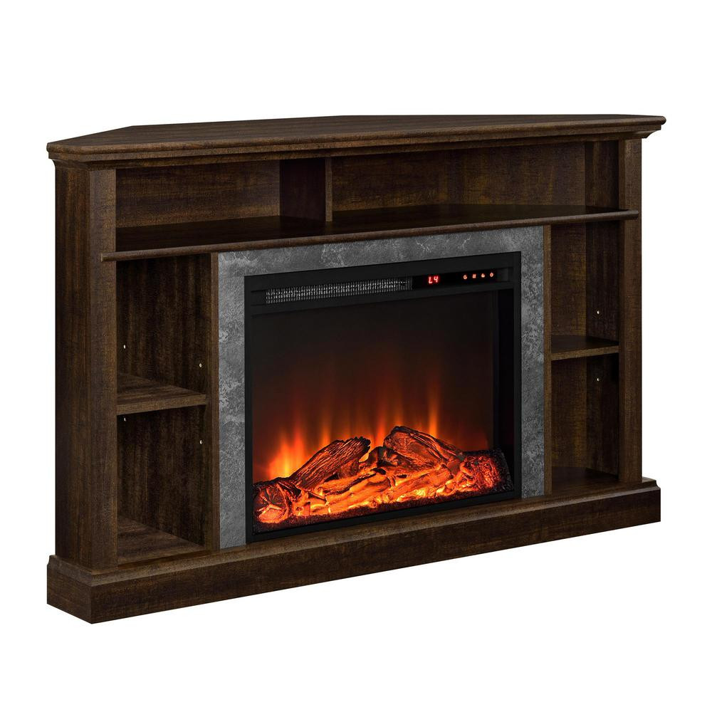 Best ideas about Espresso Fireplace Tv Stand . Save or Pin Ameriwood Home Parlor Espresso 50 in TV Stand with Now.
