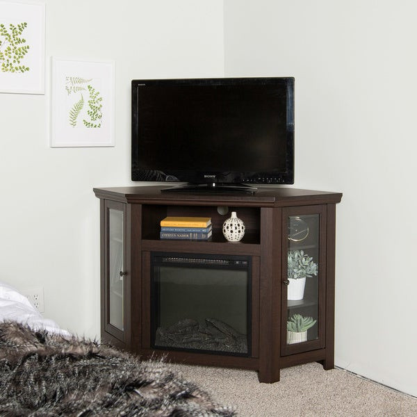 Best ideas about Espresso Fireplace Tv Stand . Save or Pin Shop 48 inch Espresso Corner Fireplace TV Stand Sale Now.