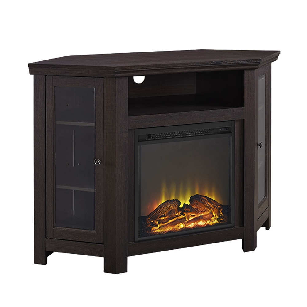 """Best ideas about Espresso Fireplace Tv Stand . Save or Pin 48"""" Corner Fireplace TV Stand Espresso Now."""