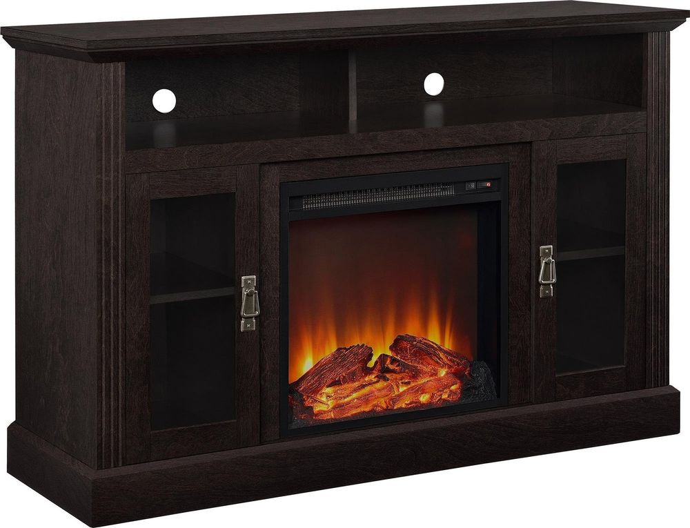 """Best ideas about Espresso Fireplace Tv Stand . Save or Pin Altra Chicago 50"""" Fireplace TV Stand Console Espresso Now."""