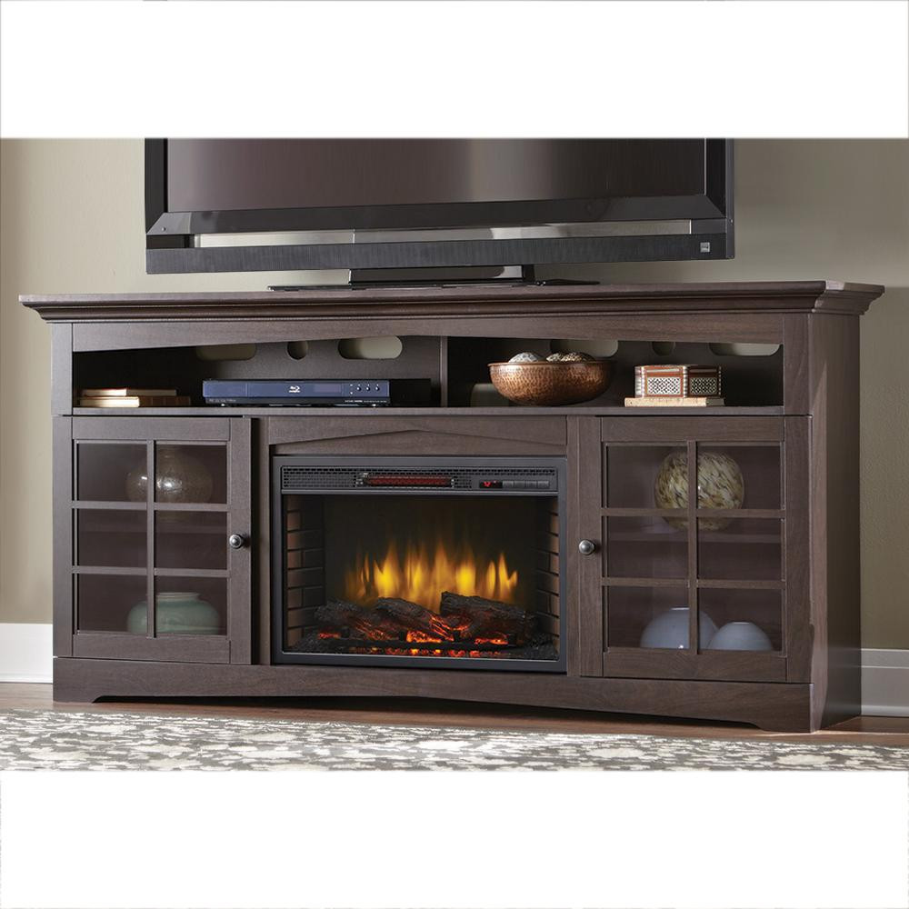 Best ideas about Espresso Fireplace Tv Stand . Save or Pin Home Decorators Collection Avondale Grove 70 in TV Stand Now.