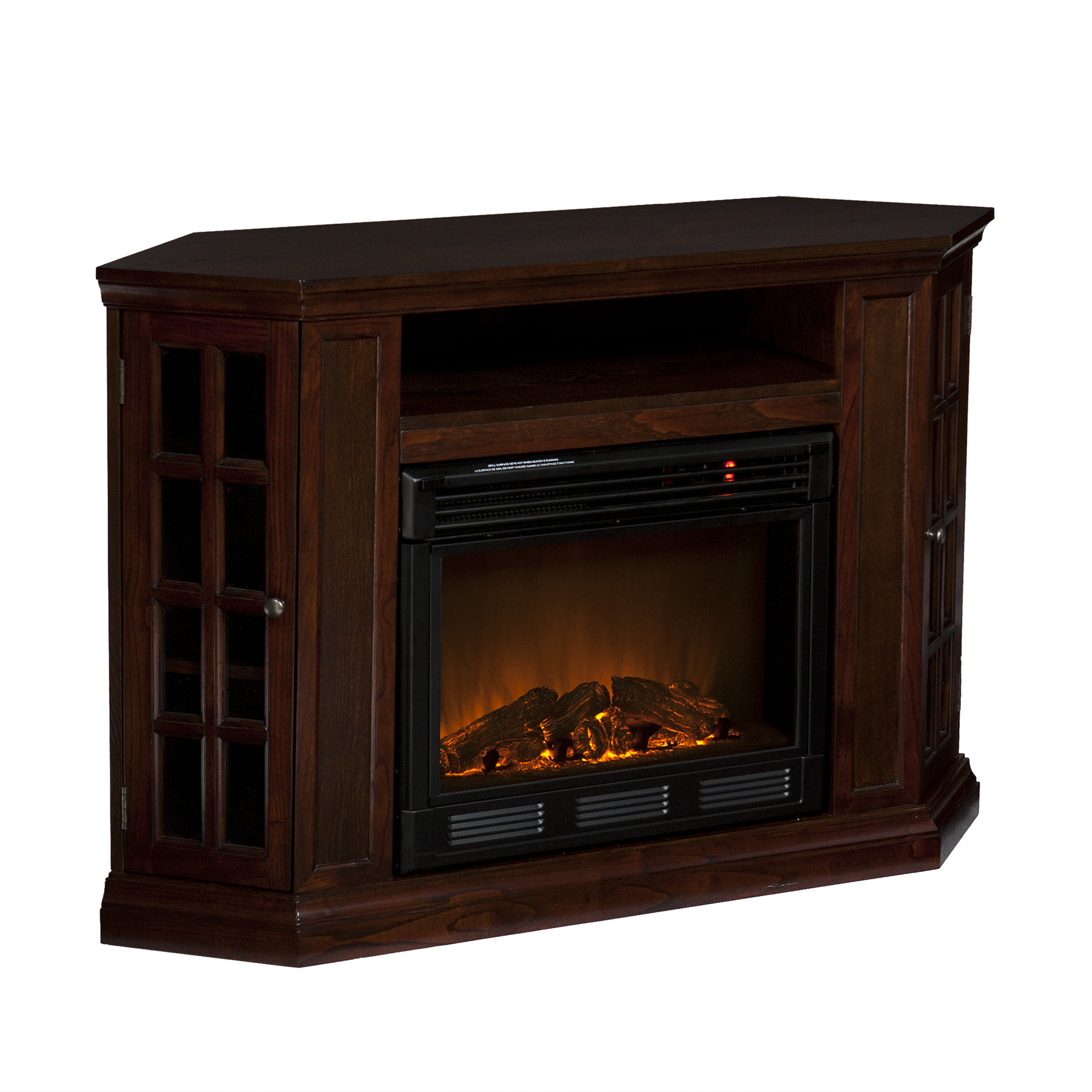 Best ideas about Espresso Fireplace Tv Stand . Save or Pin Narita Corner Flat Wall Media Espresso Electric Fireplace Now.
