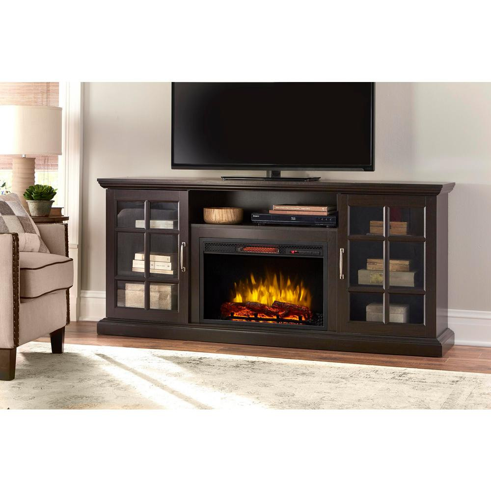 Best ideas about Espresso Fireplace Tv Stand . Save or Pin Home Decorators Collection Edenfield 70 in Freestanding Now.