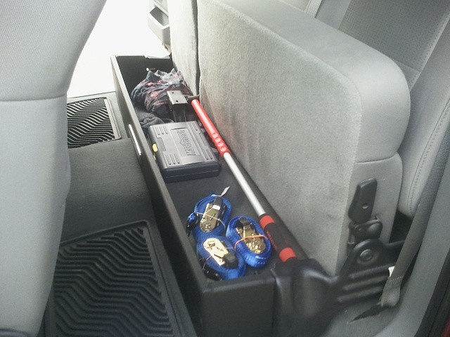 Best ideas about F150 Under Seat Storage DIY . Save or Pin Homemade Garage mods Page 2 Ford F150 Forum Now.