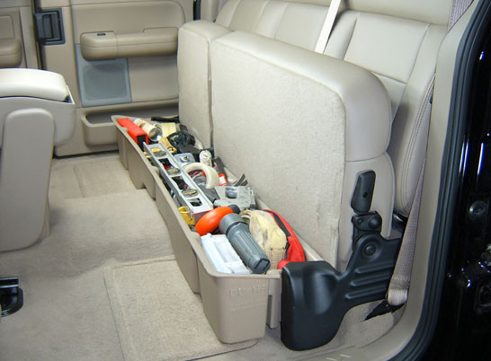 Best ideas about F150 Under Seat Storage DIY . Save or Pin 2005 Ford F150 Super Crew Cab Truck Underseat Storage From Now.