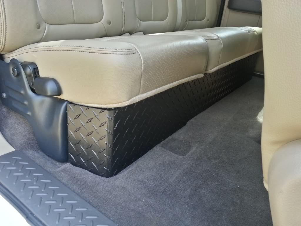 Best ideas about F150 Under Seat Storage DIY . Save or Pin eBay diamond plate under seat storage Ford F150 Forum Now.