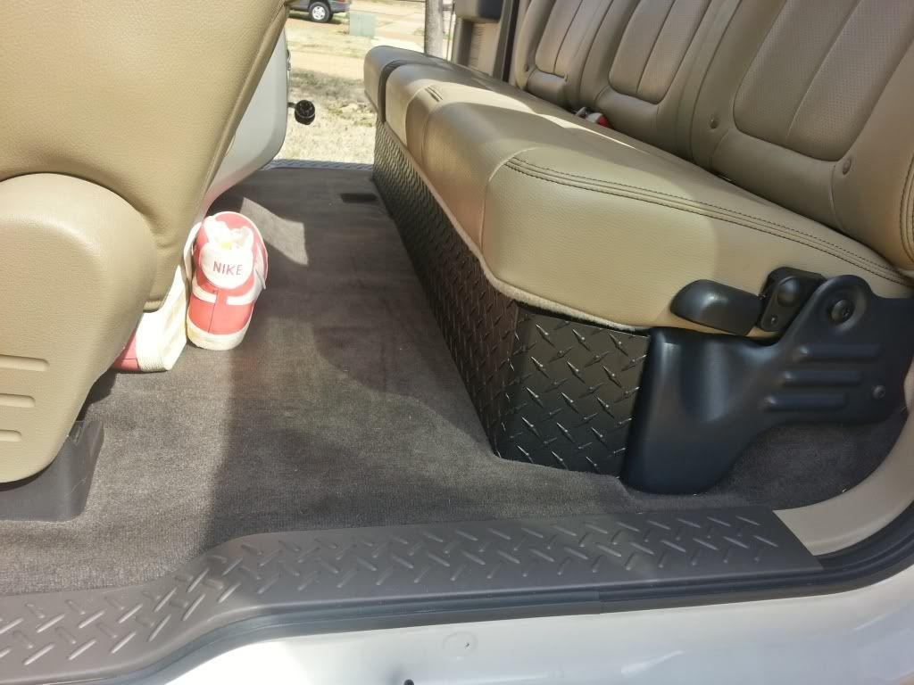 Best ideas about F150 Under Seat Storage DIY . Save or Pin Diamond plate under seat storage Ford F150 Now.