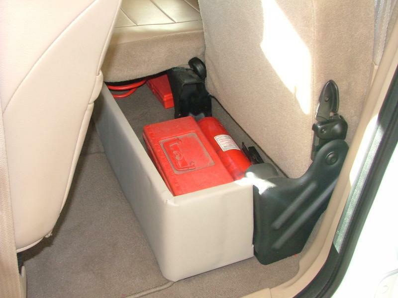 Best ideas about F150 Under Seat Storage DIY . Save or Pin Rear under seat storage bin Page 2 F150online Forums Now.