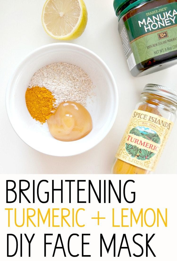 Best ideas about Face Mask DIY . Save or Pin Glowing Skin Series Brightening Turmeric Lemon DIY Face Now.