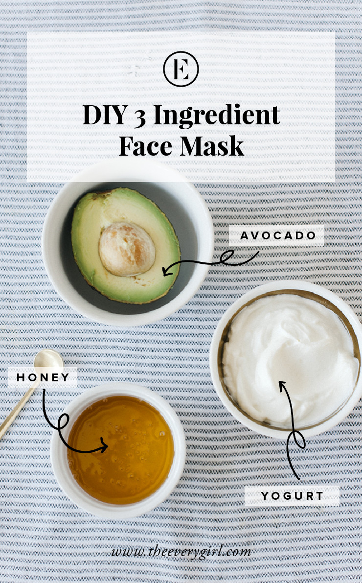 Best ideas about Face Mask DIY . Save or Pin At Home Avocado Honey & Yogurt Face Mask The Everygirl Now.