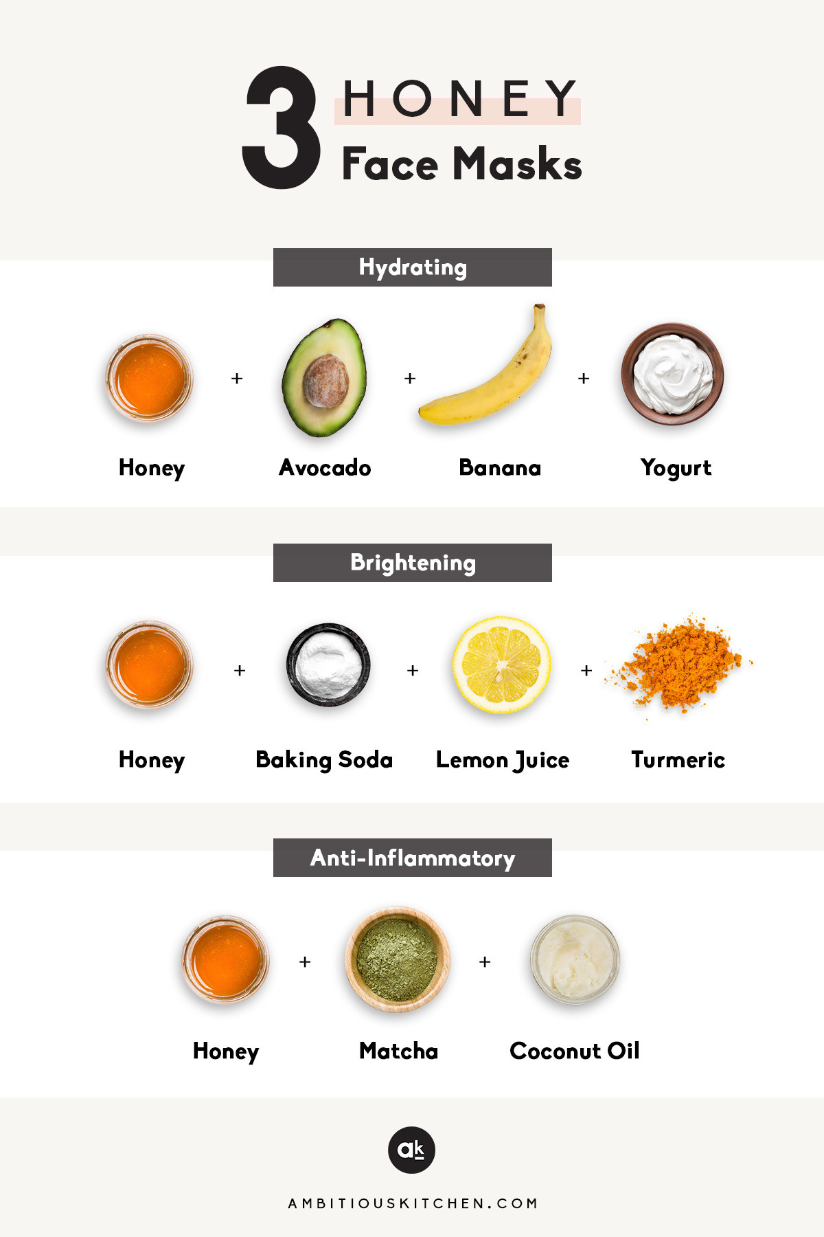 Best ideas about Face Mask DIY . Save or Pin 3 DIY Honey Face Masks video Now.