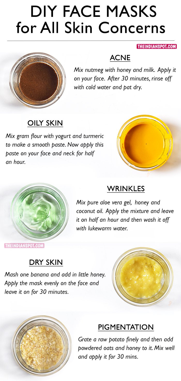 Best ideas about Facial Mask DIY . Save or Pin BEST DIY FACE MASKS FOR YOUR BIGGEST SKIN PROBLEMS Now.