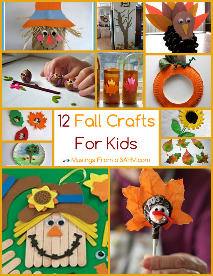 Best ideas about Fall Crafts Ideas For Kids . Save or Pin 12 Fall Crafts for Kids Musings From a Stay At Home Mom Now.
