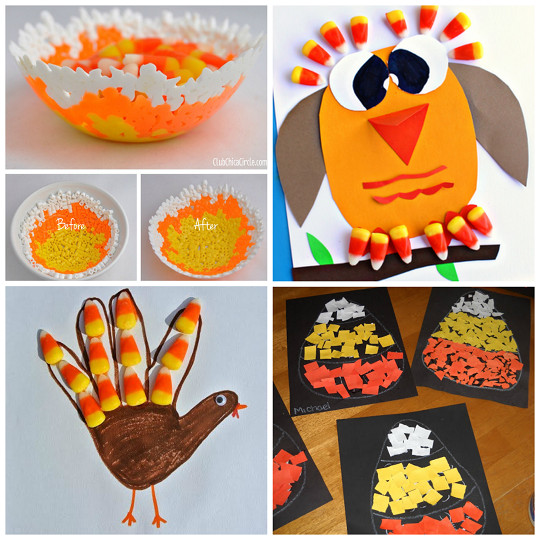 Best ideas about Fall Crafts Ideas For Kids . Save or Pin Candy Corn Crafts for Kids to Make Crafty Morning Now.