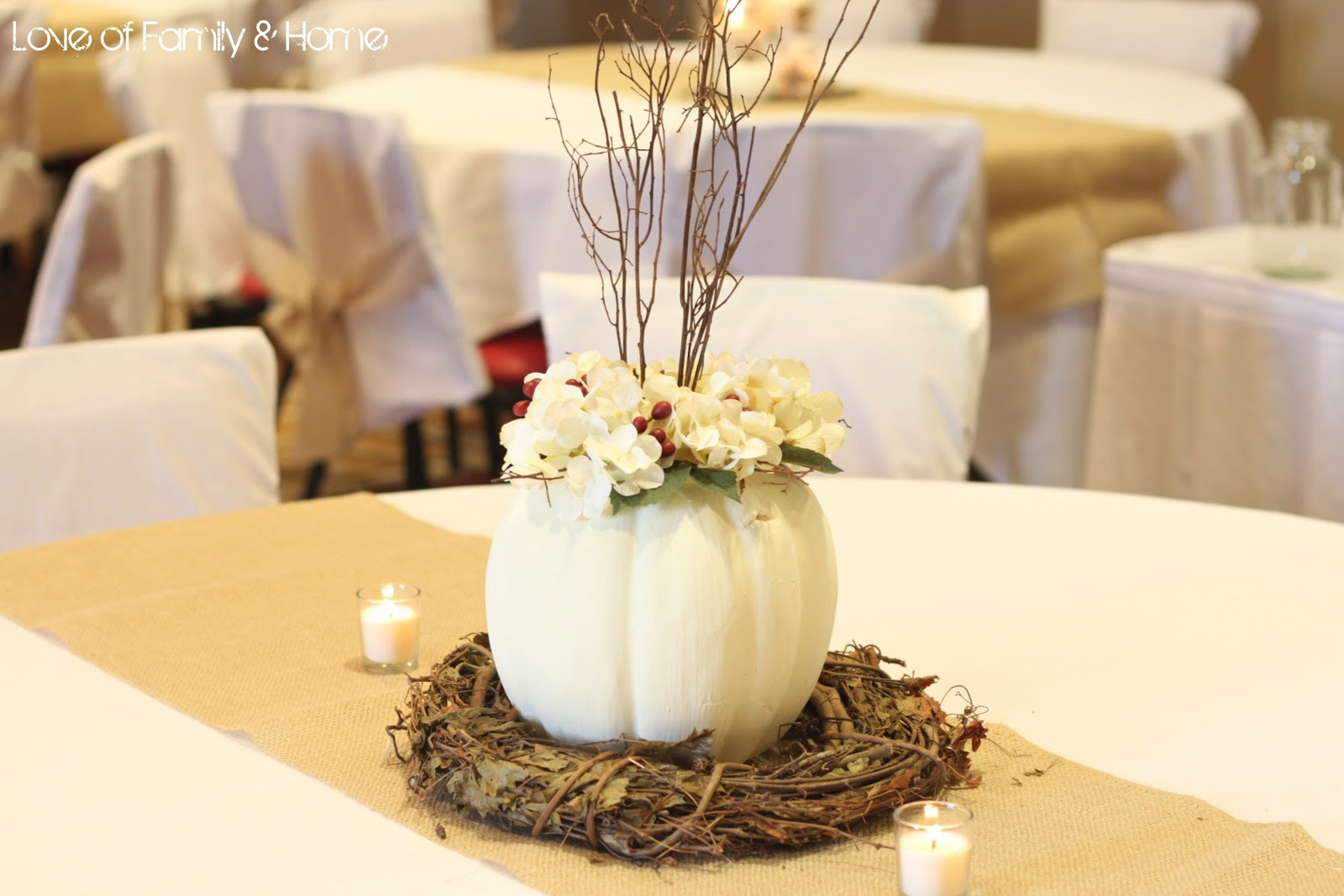 Best ideas about Fall Wedding Centerpieces DIY . Save or Pin DIY Rustic Chic Fall Wedding Reveal Love of Family Now.