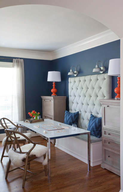Best ideas about Family Game Room . Save or Pin bination family room work space game room transitional Now.