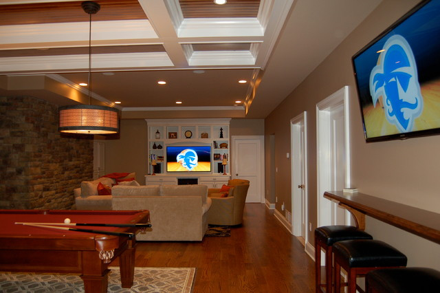 Best ideas about Family Game Room . Save or Pin Basement Media Game Room Chatham NJ Traditional Now.