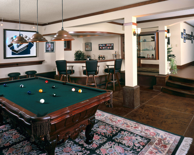Best ideas about Family Game Room . Save or Pin River Castle Game Room Traditional Family Room Now.