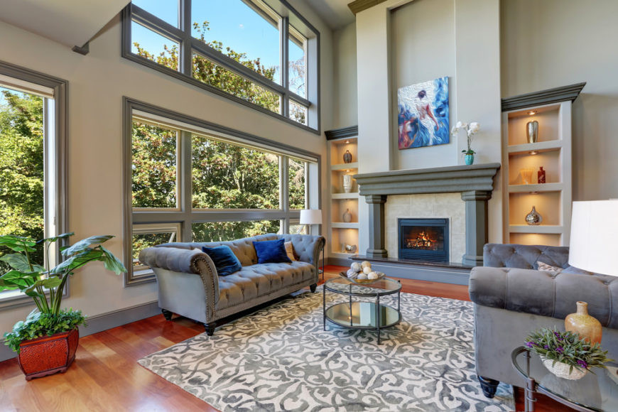Best ideas about Family Room Area Rugs . Save or Pin 100 Examples of Living Rooms with Area Rugs s Now.