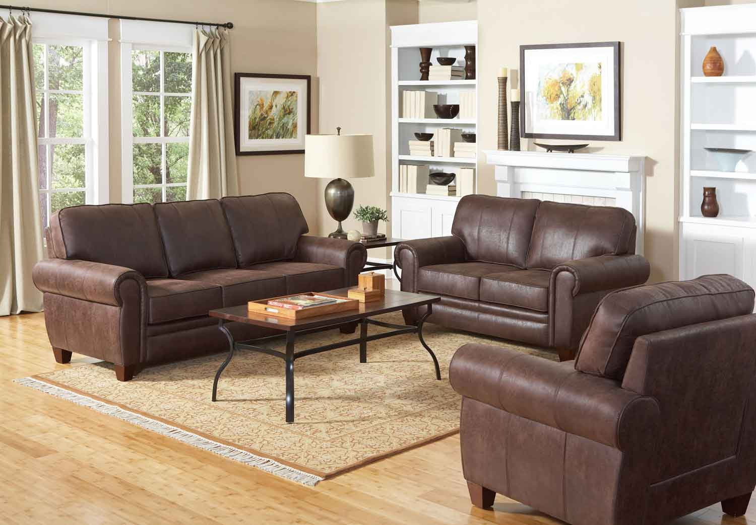 Best ideas about Family Room Chairs . Save or Pin Coaster Bentley Living Room Set Brown LivSet at Now.