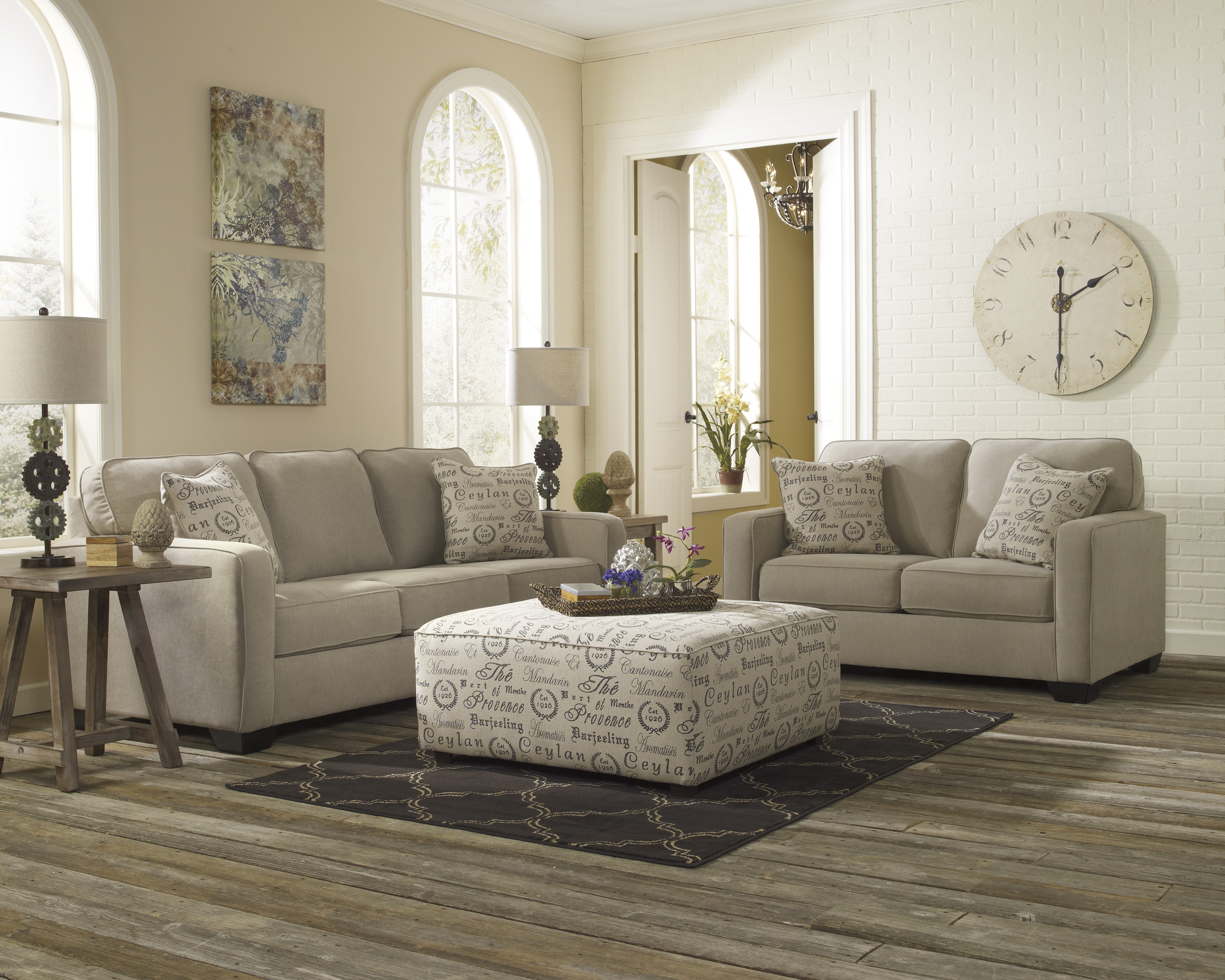 Best ideas about Family Room Chairs . Save or Pin ASHLEY FURNITURE FABRIC SOFA SETS Fabric Sofas AS Now.