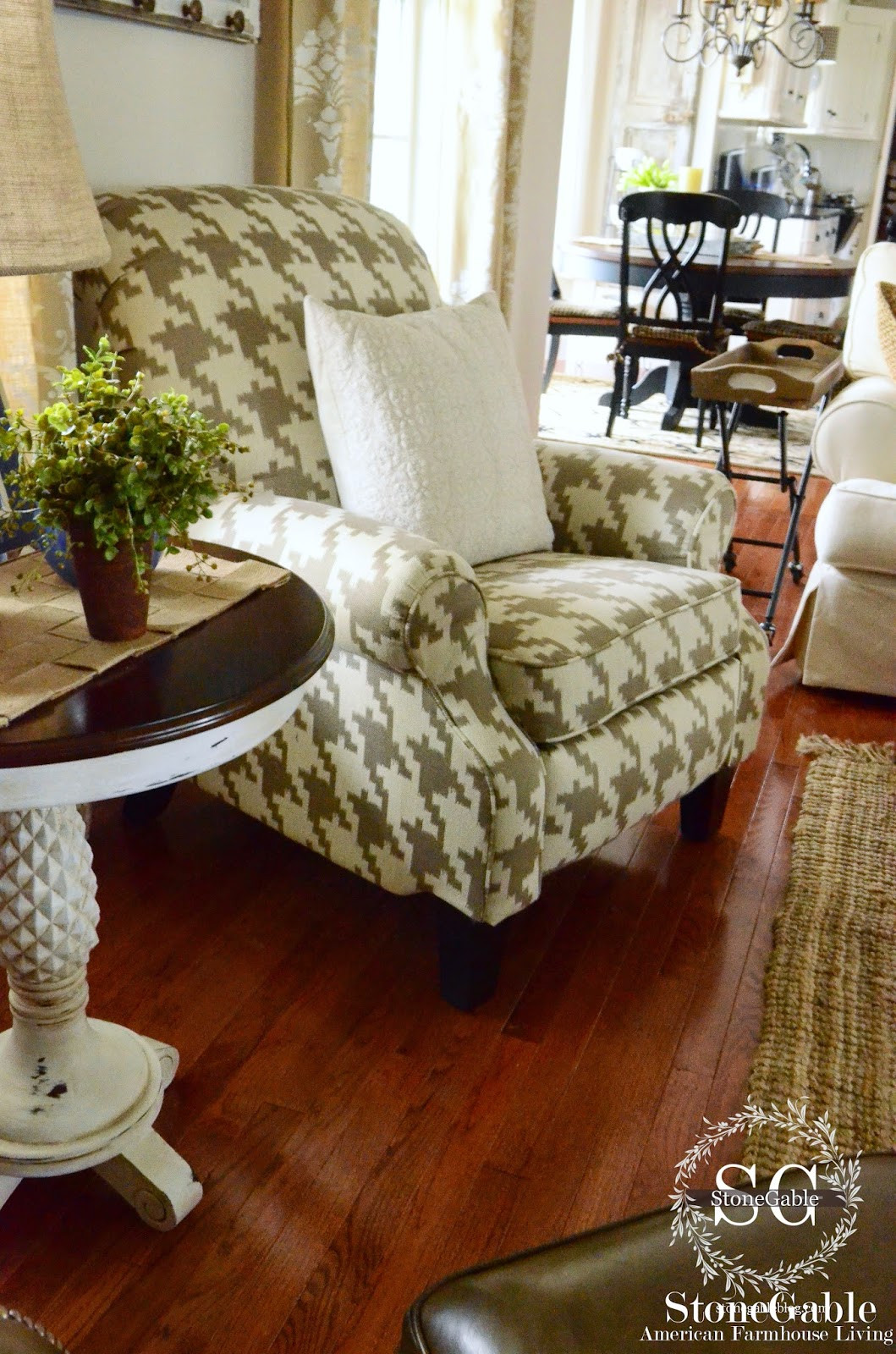 Best ideas about Family Room Chairs . Save or Pin FAMILY ROOM CHAIR REVEAL StoneGable Now.