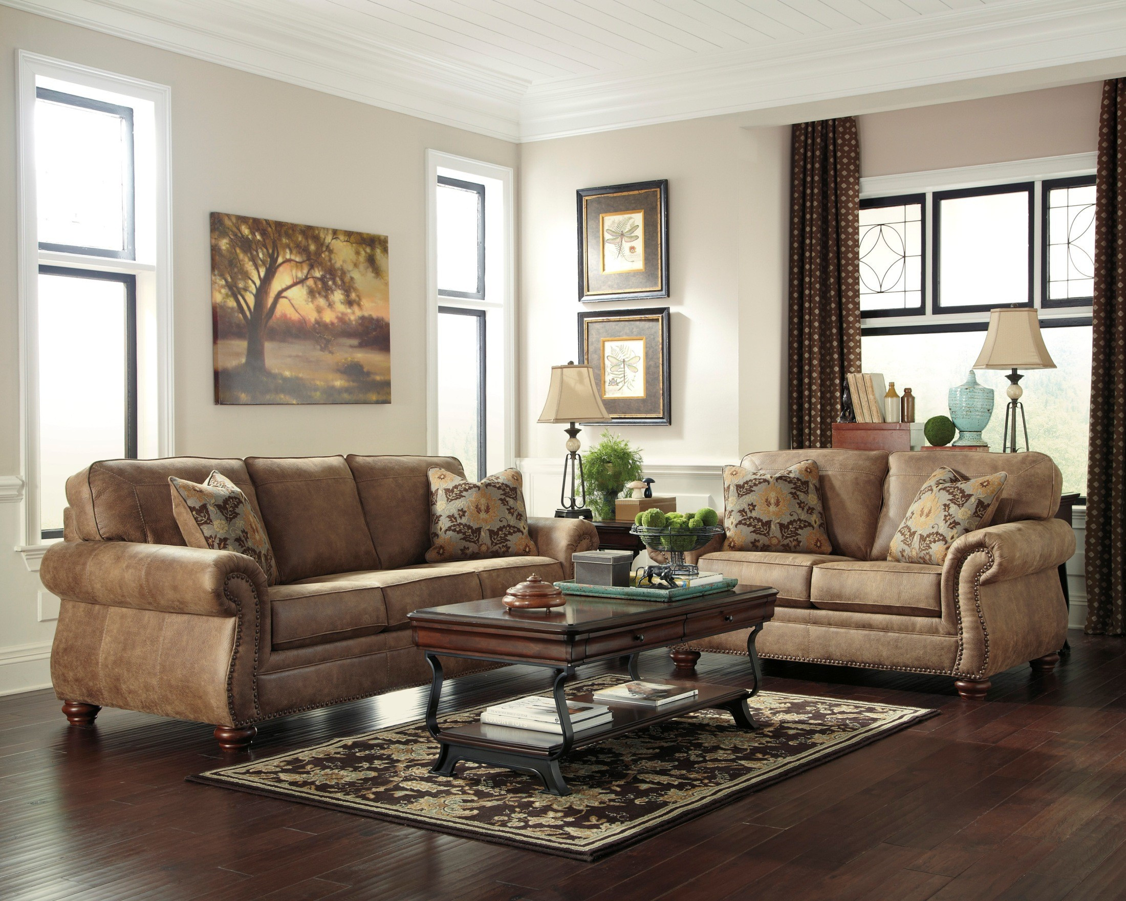 Best ideas about Family Room Couches . Save or Pin Larkinhurst Earth Living Room Set from Ashley 38 35 Now.