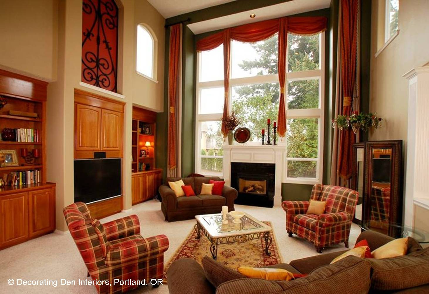 Best ideas about Family Room Couches . Save or Pin Focus on the Fireplace Now.