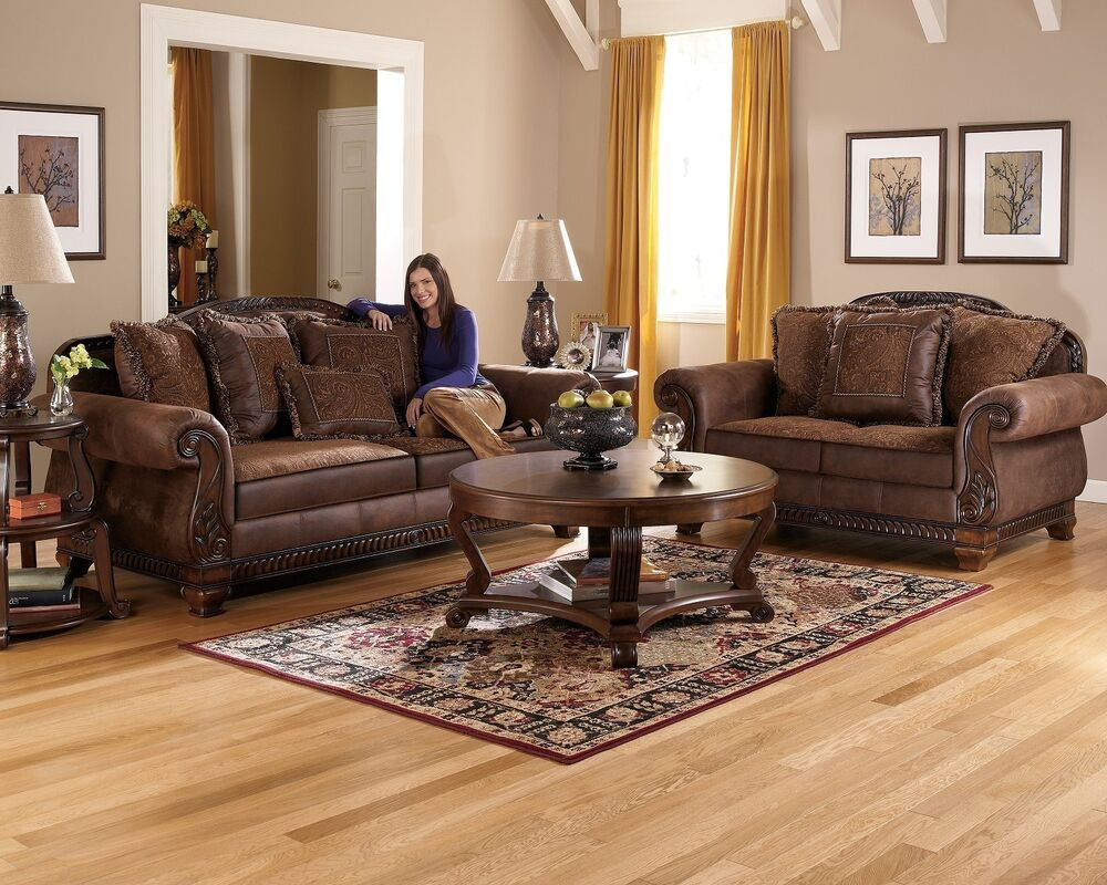 Best ideas about Family Room Couches . Save or Pin TRUFFLE TRADITIONAL SOFA SET OLD WORLD COUCH WOOD TRIM Now.