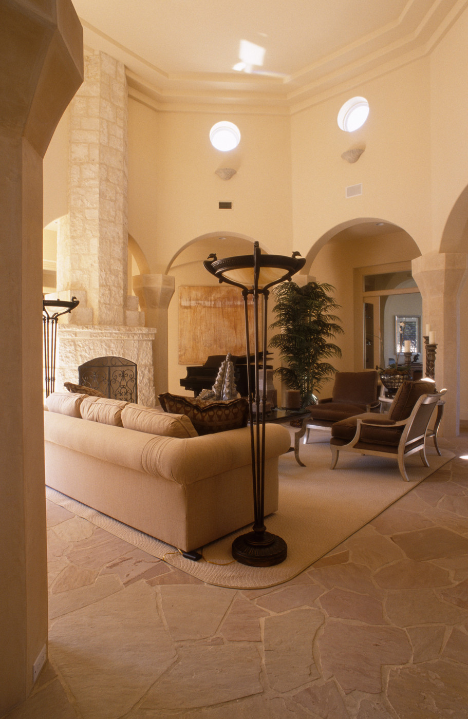 Best ideas about Family Room Design . Save or Pin Beige Contemporary Mediterranean Family Room Living Room Now.