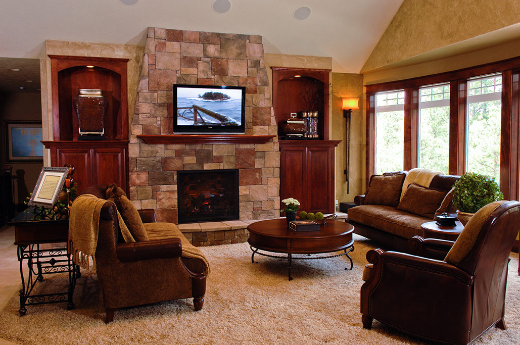 Best ideas about Family Room Design . Save or Pin Gustin Family Room Carisa Interior Design Now.