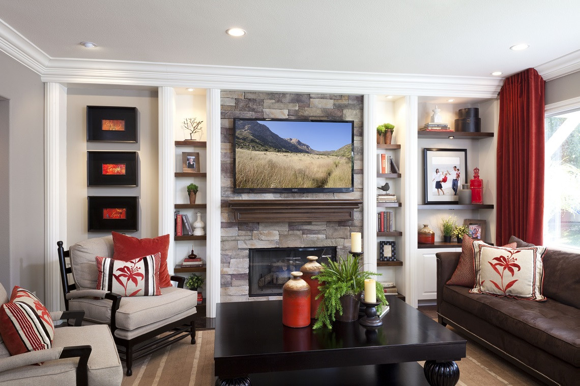 Best ideas about Family Room Design . Save or Pin Stylish Transitional Family Room Before and After Robeson Now.