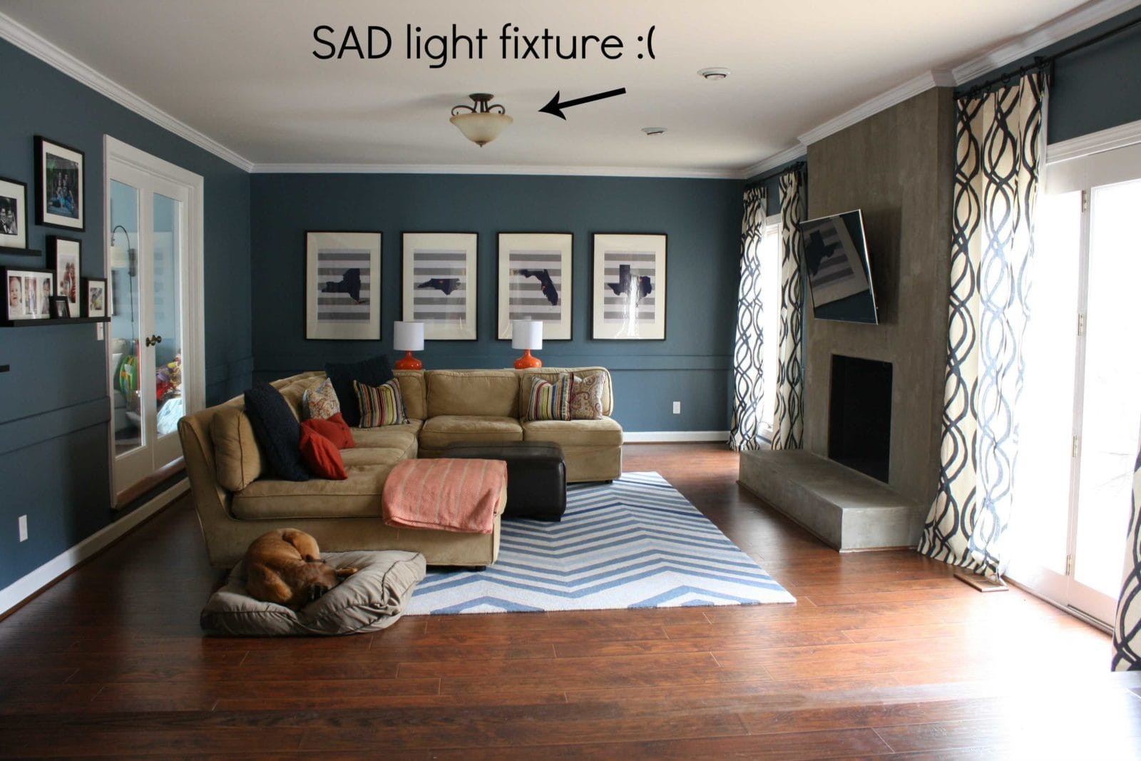 Best ideas about Family Room Lighting Fixtures . Save or Pin A Stylish Lighting Update for the Family Room Now.