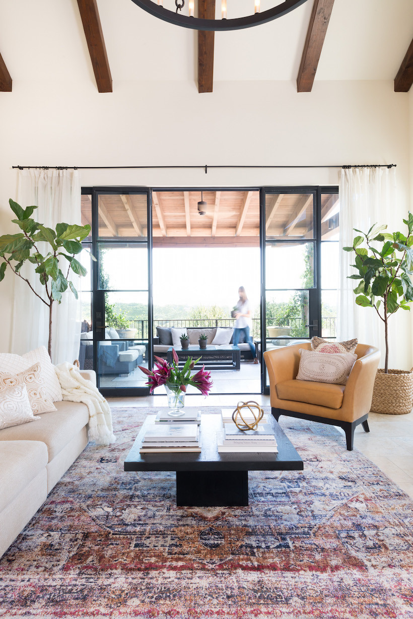 Best ideas about Family Room Rugs . Save or Pin A Splash of Color in My Living Room Camille Styles Now.