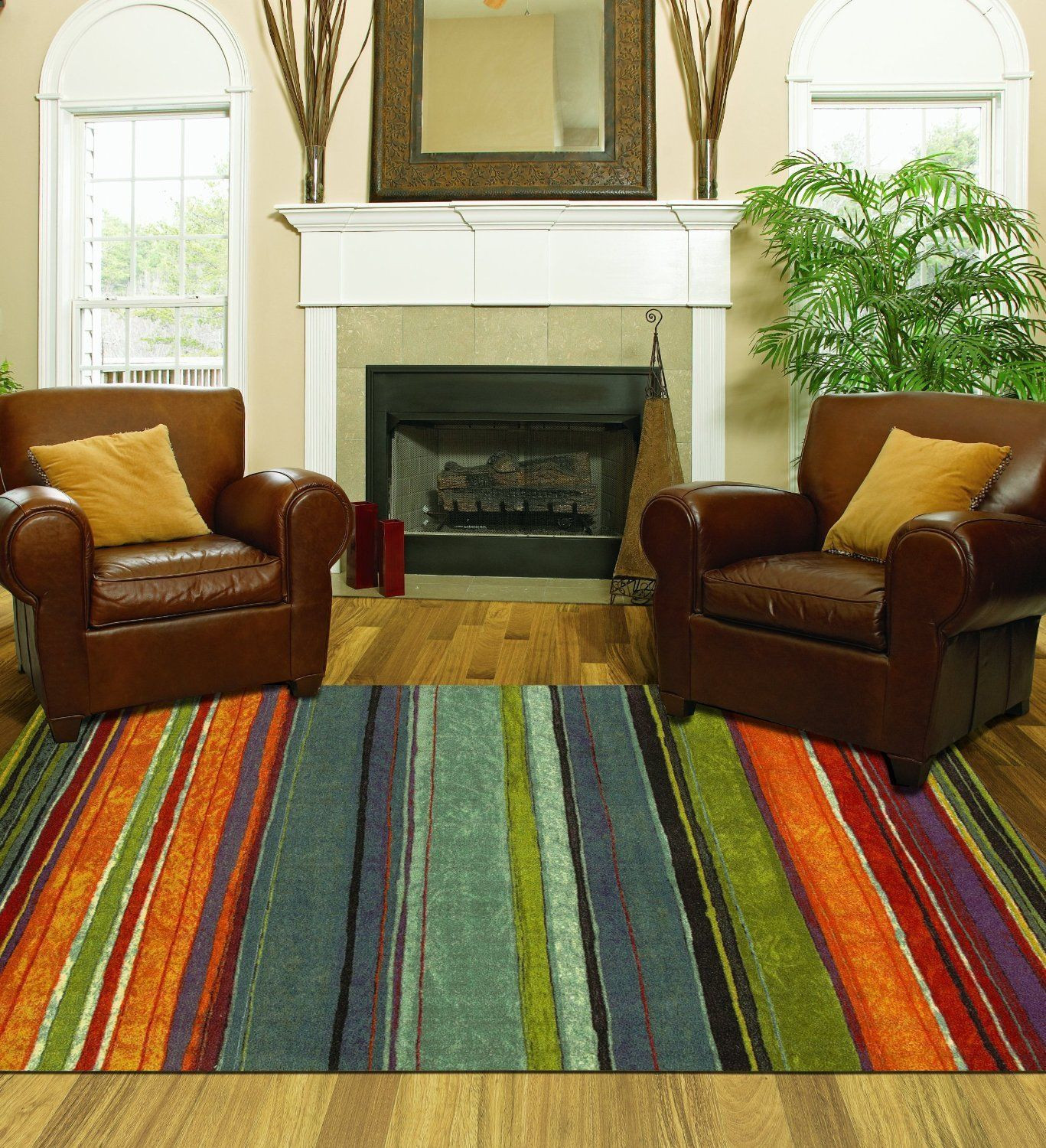 Best ideas about Family Room Rugs . Save or Pin Area Rug Colorful 8x10 Living Room Size Carpet Home Now.