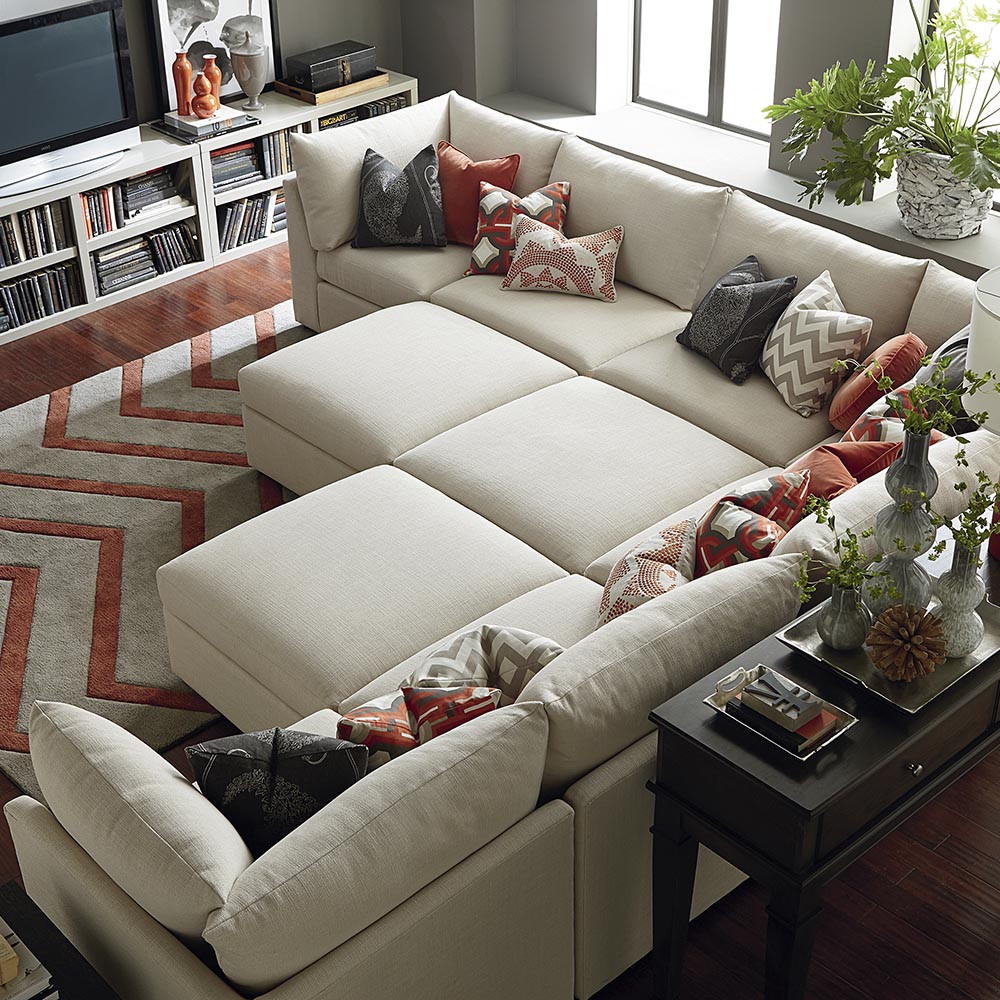 Best ideas about Family Room Sectionals . Save or Pin Beckham Ottoman Living Room Now.