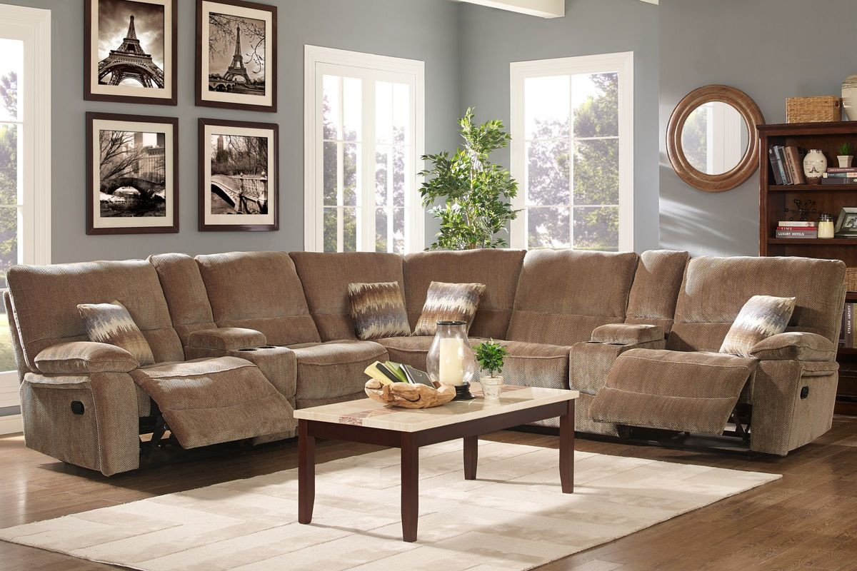 Best ideas about Family Room Sectionals . Save or Pin Ranger 7 Piece Chenille Power Reclining Sectional at Now.