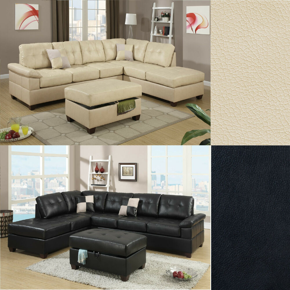 Best ideas about Family Room Sectionals . Save or Pin 2 Pcs Sectional Sofa Couch Bonded Leather Modern Living Now.