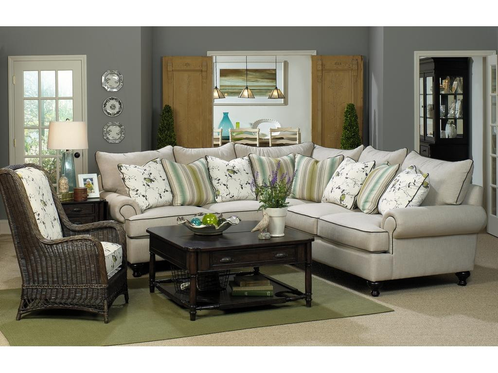 Best ideas about Family Room Sectionals . Save or Pin Paula Deen by Craftmaster Living Room Sectional P7117BD Now.