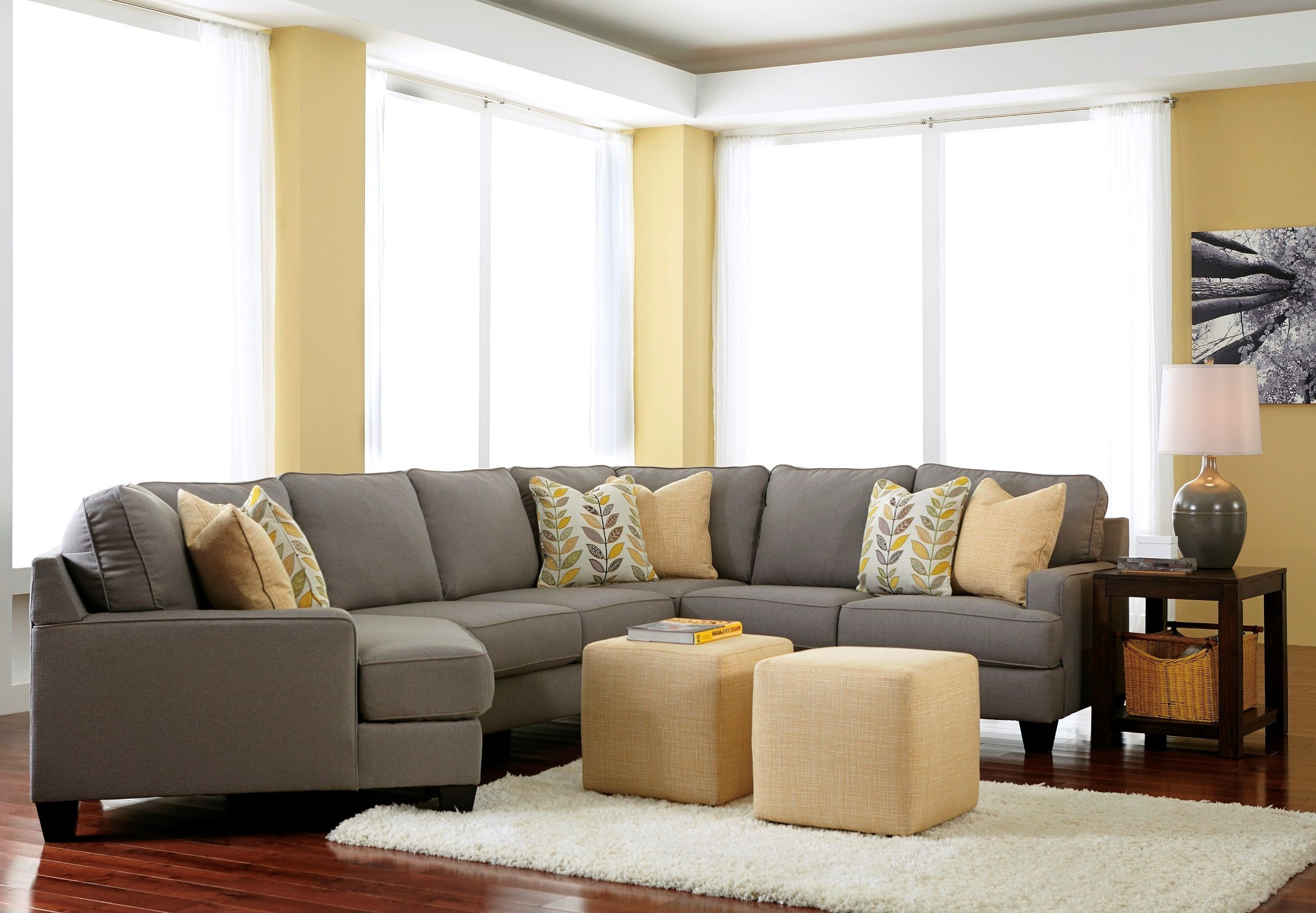 Best ideas about Family Room Sectionals . Save or Pin Chamberly Alloy LAF Cuddler Sectional from Ashley Now.