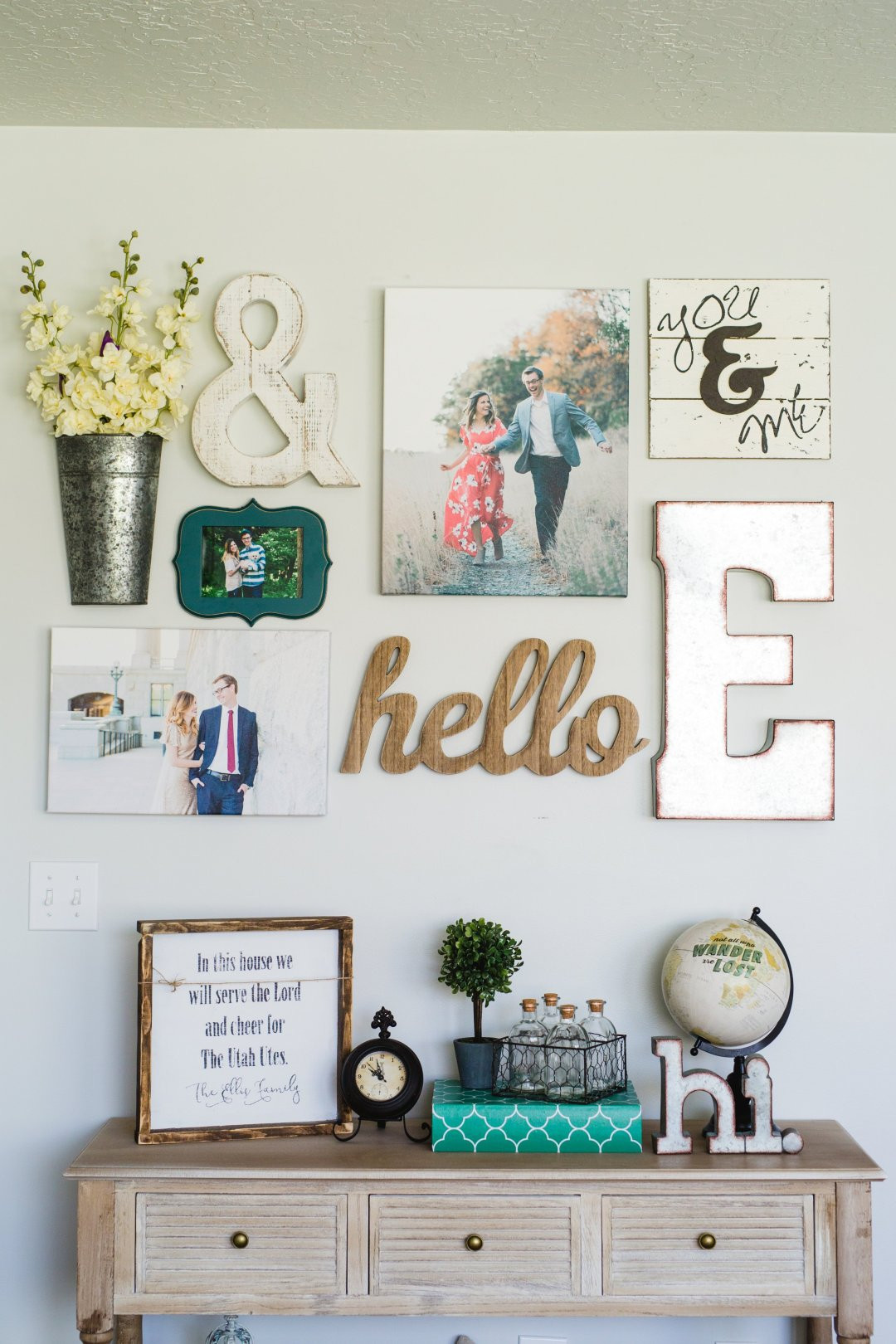 Best ideas about Family Room Wall Decorations . Save or Pin Living Room Gallery Wall Ideas • Everyday Ellis Now.