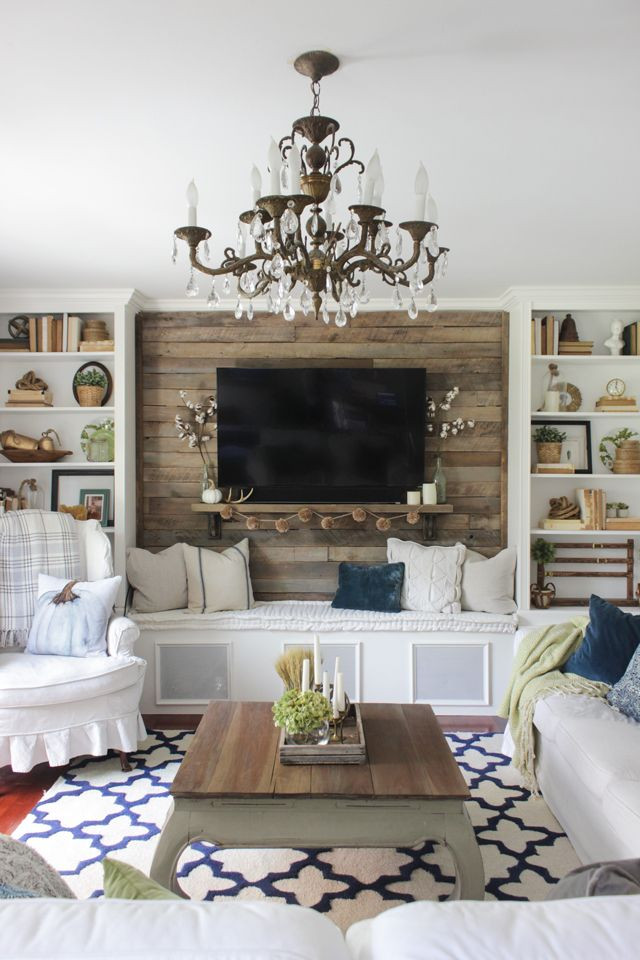 Best ideas about Family Room Wall Decorations . Save or Pin Fall Into Home Tour 2016 Feather My Nest Now.