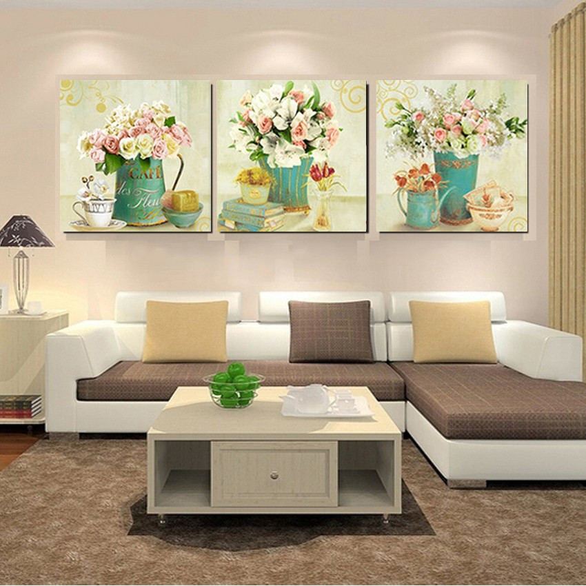 Best ideas about Family Room Wall Decorations . Save or Pin Home Decor Canvas Prints Vintage Flower Wall Art Canvas Now.