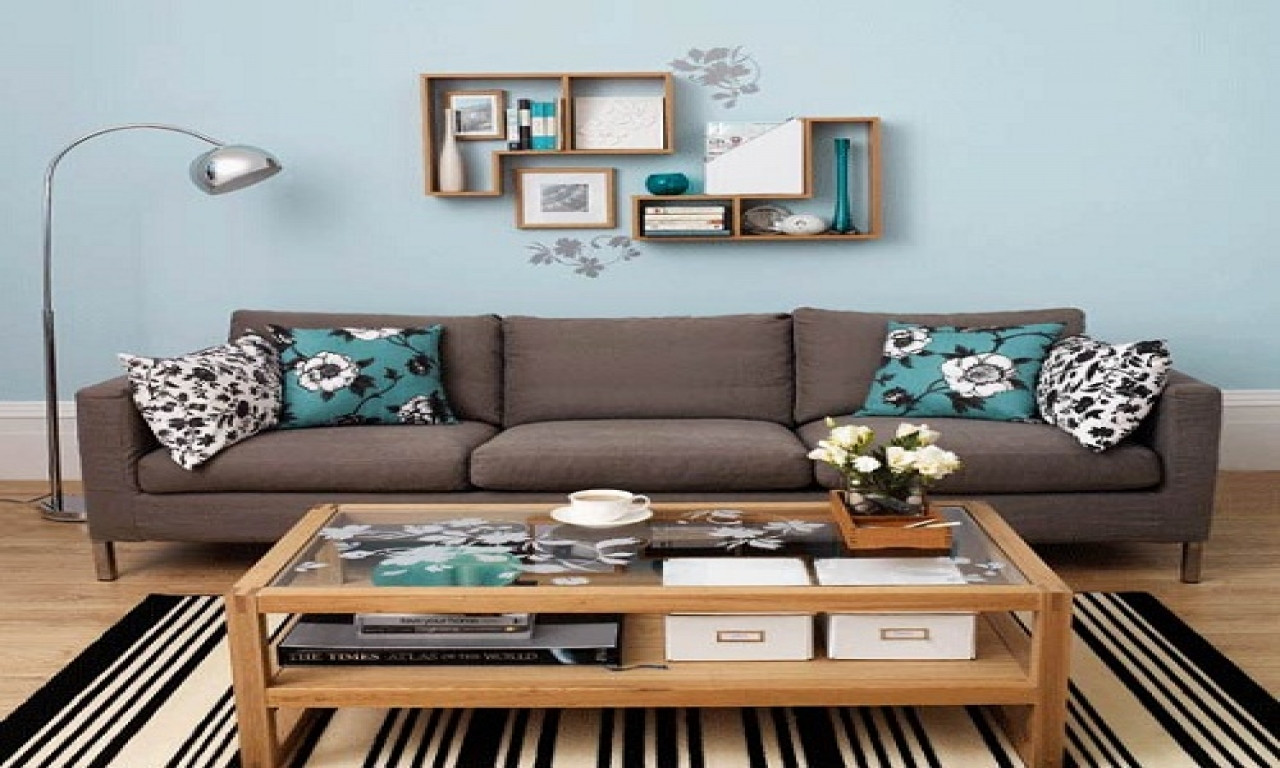 Best ideas about Family Room Wall Decorations . Save or Pin Pinterest living room wall decor teal blue and brown Now.