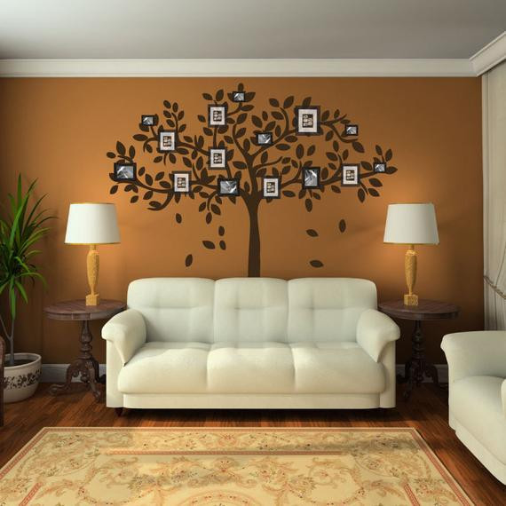 Best ideas about Family Room Wall Decorations . Save or Pin Family Tree Wall Decal Sticker Picture Frame Tree Branch Now.