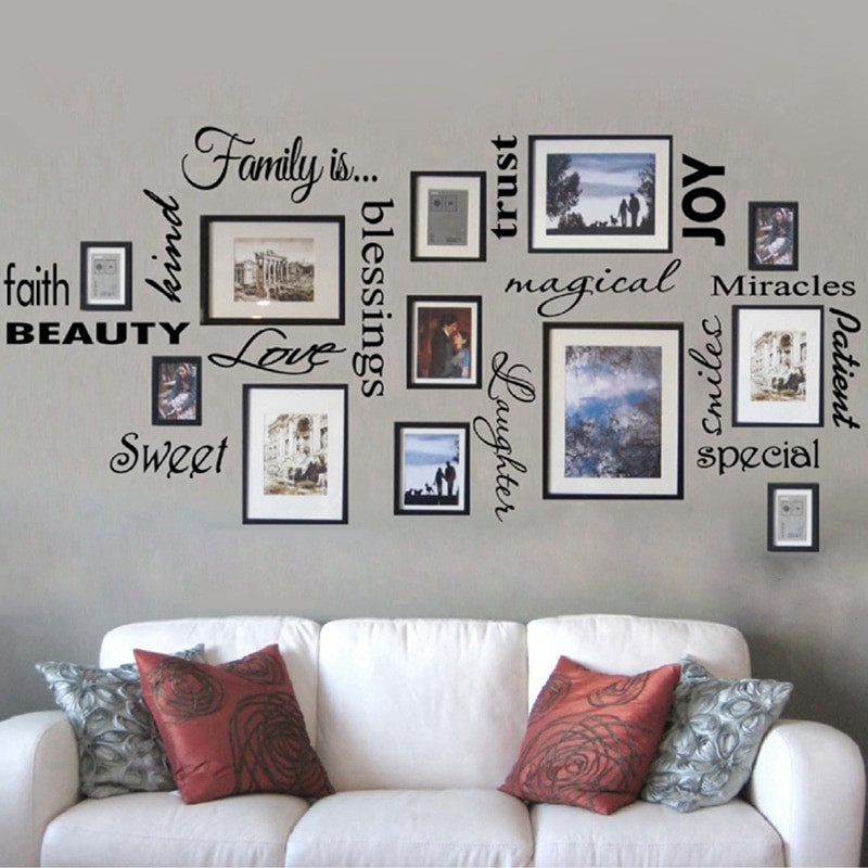 Best ideas about Family Room Wall Decorations . Save or Pin Free Shipping FAMILY IS vinyl wall lettering quote wall Now.