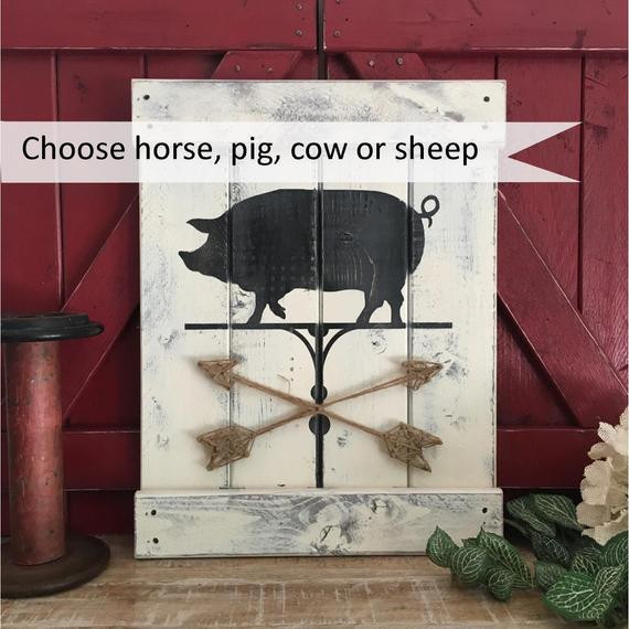 Best ideas about Farm Animal Kitchen Decor . Save or Pin Items similar to RUSTIC DINING ROOM Decor farmhouse Now.