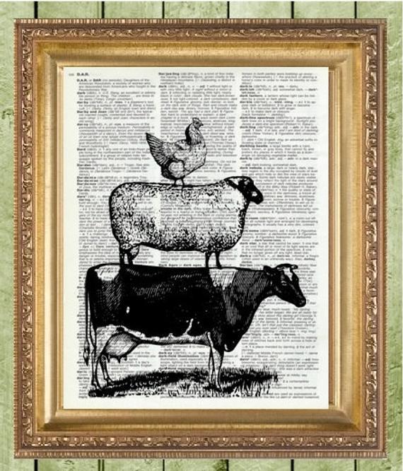 Best ideas about Farm Animal Kitchen Decor . Save or Pin Kitchen Wall Decor Art Print Farm Animals Farmhouse Decor Now.