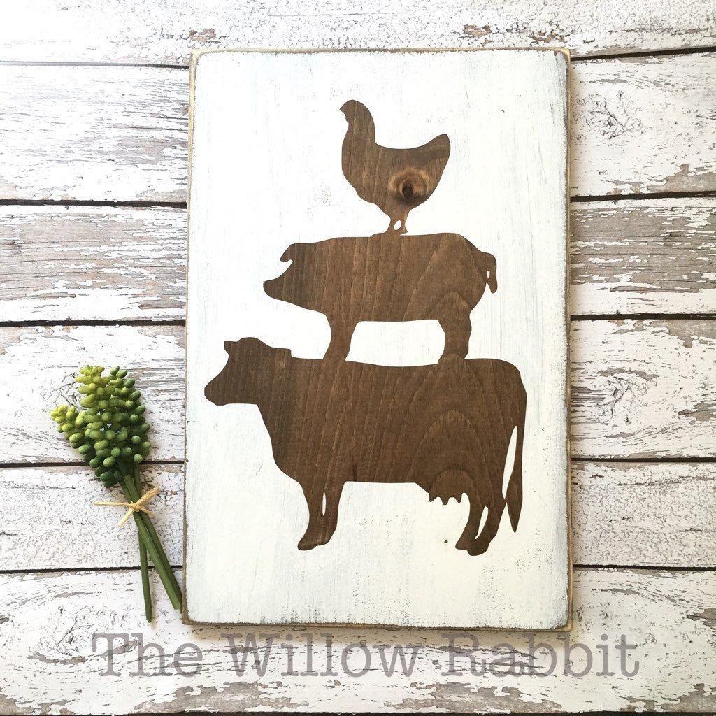 Best ideas about Farm Animal Kitchen Decor . Save or Pin Farmhouse animals kitchen decor wood sign Now.
