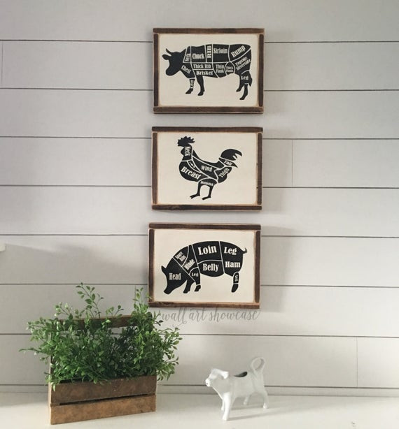 Best ideas about Farm Animal Kitchen Decor . Save or Pin Farm Animal Hand Painted Wood Signs Butcher by Now.